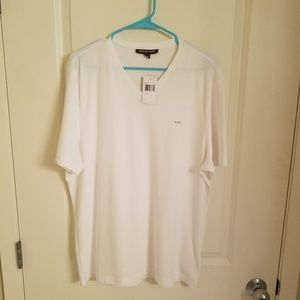 Michael Kors Mens Large White Shirt NWT